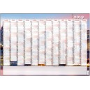 BKA8 Nástěnný roční kalendář - B1 - Město 2019