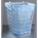 Odpadkový koš drátěný bílý - závěsný 22 l