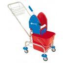 Úklidový vozík jednokbelíkový,pochromovaná konstrukce (MO2)