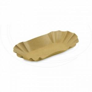 Papírová miska oválná, hnědá 10,5 x 17,5 x 3 cm [1 ks