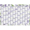 BKA1 Nástěnný roční kalendář A4 2020 - levandule