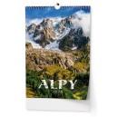 BNF5 Nástěnný kalendář A3 - Alpy 2020