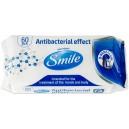 Ubrousky antibakteriální vlhčené SMILE 60 ks