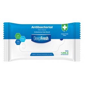 Ubrousky antibakteriální vlhčené DEEP FRESH, 15ks/bal