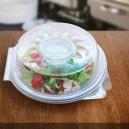 Salátová miska plastová s víčkem na dresink misku, 1600ml (PP)[25 ks]