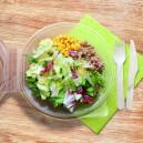 Salátová miska plastová s vypouklým víčkem 1700ml (PP)[25 ks]