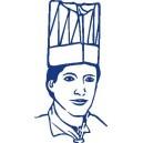 Kuchařské čepice z netk.textílie bílé 24 cm 10 ks