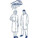 Plášť pro návštěvy /pláštěnka s kapucí (PE) [10 ks]