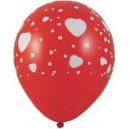 """Nafukovací balónek Bílá srdíčka """"L"""" [100ks]"""