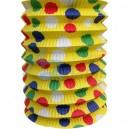 Lampion roztahovací PARTY žlutý 25 cm (průměr 15 cm) (1 ks)