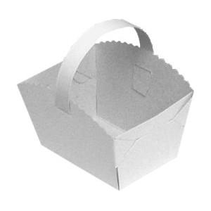 Svatební košíčky s ouškem 10 x 8 x 6 cm [50 ks]