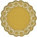 Dekorativní krajky kulaté, zlaté 30 cm [4 ks]