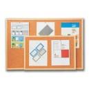 Korková tabule 90x120cm - oboustranná - dřevěný rám