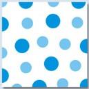 Ubrousky Harmony  Dots modré 1-vrstvé, 33 x 33 cm [30ks]