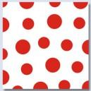 Ubrousky Harmony  Dots  červené 1-vrstvé, 33 x 33 cm [30ks]