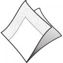 Ubrousky bílé 3-vrstvé, 33 x 33 cm  [200 ks]