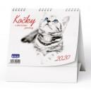 BSL9 Stolní kalendář - IDEÁL - Kočky 2020